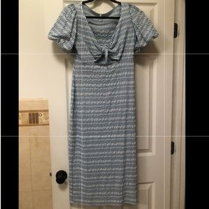 Urban Outfitters Blue Gingham Dress